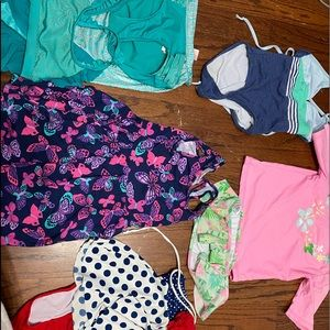 Other - Girls 6/6x bathing suit & cover up mega bundle